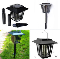 Wholesale mosquito repellent lamp wholesale - Solar Mosquitoes Insect Pest Bug Killer Zapper Light Repellent Lamp LED Light Outdoor Garden