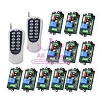 Ein Set 1-Kanal Digital Wireless Fernbedienung Power Lamp Light Switch 1CH Receiver x4 + 12Buttons Transmitter x2 220V
