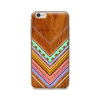 Wholesale Iphone 4s Case Wood Grain - Wholesale For iPhone 4 4S 5 5S 5C 6 6S 6Plus Sawtooth V-neck Wood Grain Of Skin TPU Silicone Gel Protective Cover