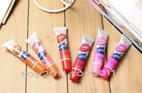 Wholesale Lip Balm Korea - Korea Lips Tint Peel-Off Long Lasting Lip Gloss Fashion Women Girls Matte Waterproof Pack Tattoo Lipgloss The Balm Makeup