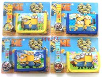 Wholesale Despicable Watches Wallet - Wholesale 20 pc NEW Cartoon Despicable Me Watches and Wallet Sets Fashion Party Gift