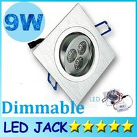 Wholesale X30 High Power Square X3W W Led Recessed Ceiling Light Angle Dimmable Led Down Lights AC V