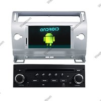 Wholesale Dvd Car C4 - Android 4.4 in car dvd navigation system with gps bluetooth screen steering wheel control for citroen c4 old c-quatre c-triumph