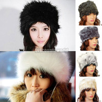 headband do inverno da pele do falso venda por atacado-Atacado-2015 Novo Estilo Ladies Faux Fur Inverno Esqui Estilo Cossaco Russo Hat Headband Ear Warmer 6 Cor
