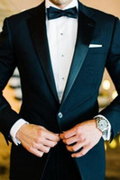 Wholesale Groom Scarf - Custom wedding ring groom satin godfather men wedding suit wedding groom black best man (jacket + pants + bow + scarf)