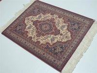 Wholesale Persian Rugs Carpets - Wholesale-New Magical Persian Carpet Mouse Rug Purple Flower 08