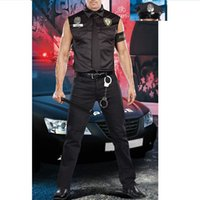 Wholesale Mans Police Costume - Free shipping ! Police costumes Halloween Costumes for men multicolor cospleay BLS2011