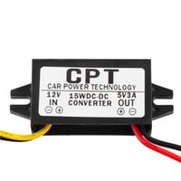 12v 5v dc regulator venda por atacado-Atacado-1PC DC / DC Regulador Conversor 12V para 5V 3A 15W Car Display LED Power mais novo