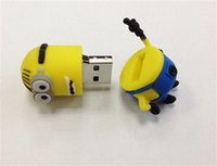 Wholesale Despicable Pen Drives - 2015 hot selling despicable me USB flash drive 64GB 128GB 256GB USB 2.0 pendrive stick Memory stick pen drive with retail package dropship