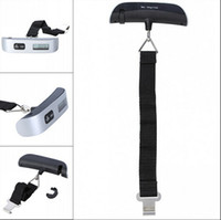 Wholesale Digital Scales Lcd Display Hanging - Fashion Hot Portable LCD Display Electronic Hanging Digital Lage Weighting Scale 50kg*10g 50kg  110lb Weight Scales