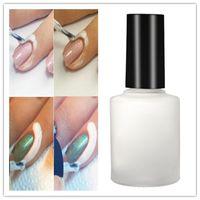 Wholesale Cream Nail Polishes - 15ml White Peel Off Base Coat Liquid Tape Cream Polish Separating Palisade Nail Art Tool Manicure Professional