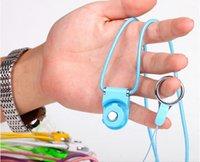 ücretsiz cep telefonu yüzükleri toptan satış-Evrensel Dönebilen Ayrılabilir Yüzük Boyun Askısı İpi Cep Telefonu Ücretsiz Nakliye Için Büyüleyici Charms