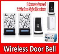 Wholesale Digital Remote Control Doorbell - Hot Wireless Door Bell - 1 Remote Control 2 Wireless digital Receiver Doorbell 36 Chimes Songs Waterproof Wireless Doorbell..