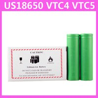 Wholesale Mod Batteries - US VTC5 2600mAh VTC4 2100mAh 18650 3.7V Li-ion battery clone for E cigarette Manhattan King Nemesis Stingray Mechanical mods 0204105-3