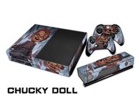 Wholesale Xbox One Skins - Chucky Doll 0075 Fashion Skin Decal For Xbox one Console and 2PCS Xbox one Controller Skins Stickers
