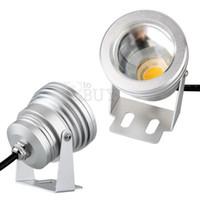 liderliğindeki yüzme havuzu sel ışık toptan satış-IP65 10 W RGB Işıklandırmalı ışık Sualtı LED Sel Işıkları Yüzme Havuzu Açık Su Geçirmez projektörler aydınlatma Yuvarlak DC 12 V Konveks Lens 000