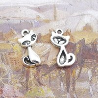 Wholesale Antique Fox Pendant - 18*11mm DIY antique silver animal fox charms accessories, metal pendant for necklace jewelry making, vintage tibetan alloy handmade charm