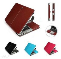 Leather Smart Holster Protective Sleeve saco capa capa para MacBook Air Pro Retina 11,6 12 13,3 15,4 polegadas macbook caso