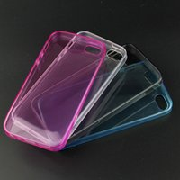 For Apple iPhone TPU Pink Transparent TPU phone case Clear cover soft silicon Case Back Cover for iphone 4G 5C 5 5S For iphone 6G 6plus