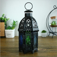 Wholesale Glass Wall Stand - Retro Metal Wall Hanging Votive Candle Holder Wedding Candlestick Hanging Lantern Romantic Home Wedding Decoration