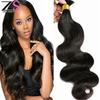 Wholesale Brazilian Body Wave Braid - 8A Top Quality Unprocessed Human Hair For Braiding No Attachment Brazilian Body Wave 4pcs Human Braiding Hair Bulk