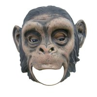 Wholesale Halloween Gorilla Mask - Realistic Orangutan Latex Masks Full Face Animal Monkey Mask Scary Mask Halloween Party Cosplay Prop Masquerade Fancy Dress