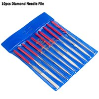 Wholesale Diamond Stone Setting Tools - Free Shipping 10PC 140mm Diamond Mini Needle File Set for Ceramic Glass Gem Stone Hobbies and Crafts Tool