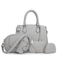 Wholesale Pc Theft - Luxury PU Leather Hand bag 5 Pcs Composite Bags Set Lady Shoulder Crossbody Women Bag Female Wallet Clutch Anti-Theft Handbags