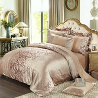 Europäischen stil 4 stücke bettwäschesätze satin bedcovers jacquard baumwolle queen-size-bettdecken könig bettbezug luxus bettlaken set