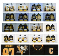 Wholesale Nylon 66 - 2018 Season 87 Sidney Crosby Kris Letang 66 Mario Lemieux Evgeni Malkin 81 Phil Kessel 30 Murray Guentzel Pittsburgh Penguins Hockey Jerseys