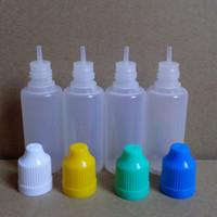 Wholesale Bottle Caps Wholesale Prices - Factory Price 20ml eliquid Juice Bottles Childproof Cap and Long Tip Eye Dropper Bottle PE Plastic Dropper Bottles E Liquid Bottle Fedex