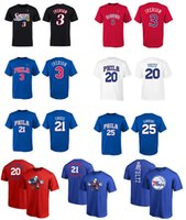 17-18 NUEVA TEMPORADA USA basketball 76ERS 25 SIMMONS 21 EMBIID 3 IVERSON 20 FULTZ personalizada NAME AND Number Hardwood Classics Camiseta 100% COTTON