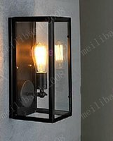 Wholesale Retro Vintage Glass Boxx RH Filament NARROW Wall Sconce Loft Wall Light American Country Aisle Lamp Metal Stair Belcony Bar MYY3377A