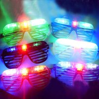 Wholesale Light Up Glasses Wholesale - Blinking LED Shutter Eye glasses Party Light Up Flashing Novelty Gift LED Flashing Light Up Glasses Halloween toy Christmas Party supply