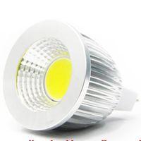 ingrosso mr16 12v 3w cob led-COB MR16 3W 5W 7W Dimmerabile 12V COB Faretto Lampadina LED Bianco caldo / freddo MR16 Lampada LED 120 angolo del fascio luminoso LED