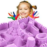 brinquedo de areia mágica venda por atacado-Novas Ferramentas de Presente Azul Amarelo Rosa Verde Venda Quente Dinâmico Educacional Incrível Interior Magia Jogar Areia Crianças Brinquedos 4135-2