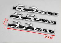 amg aufkleber großhandel-Freies verschiffen hohe qualität neue 10 teile / los metall auto aufkleber auto zubehör FÜR Mercedes AMG c63 5,5 6,3 6,5 3,2 E63 CLS63