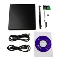 Wholesale Low Price Laptop Notebook - Lowest price 1x USB 2.0 DVD CD DVD-Rom SATA External Case Slim For Laptop Notebook New Free Shipping