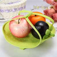Wholesale Silicon Basket - Silicone steamer basket new food vegetable Food Grade silicone cookware microwave silicon strainer basket free shipping