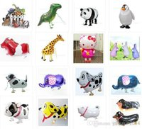 Wholesale Inflatable Wholesale Ballons Kids - 2014 latest design 18 inches aluminum balloons inflatable walking pet animal foil ballons New kids toys birthday party supplies wedding deco