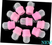 Wholesale Soakers Remover - 10pcs Professional Nail Polish Remover Soak Soakers Cap Tool Wearable Salon Acrylic Pink UV Gel Free   Drop Shipping