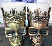 ingrosso sbrinatore del tabacco del cranio-Grinder per tabacco Skeleton Skull Design Novità Spice per metallo Grinder Pollen Crusher 3 Strati per kit sigaretta elettronica a secco erba