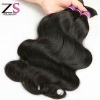 Wholesale Virgin Remy Body Wave Bulk - ZSF Hair Brazilian Body Wave Hair 4 Bundles Remy Human Hair Bulk Virgin Brazilian Bulk Hair Human Hair Bulk
