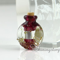 Wholesale Miniature Glass Jars - small glass vials for necklaces miniature hand blown glass bottle charms jewelleryminiature glass jars