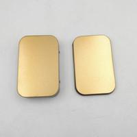 Wholesale Modern Money - Mini Tin Box Small Empty Gold Metal Storage Box Case Organizer For Money Coin Candy Keys U Disk Headphones ZA5195