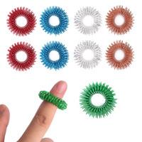 juguetes de estrés fresco al por mayor-Sensory Finger Acupressure Ring Cool Hand Fidget Juguete Para Niños Adolescentes Adultos-Silencio Reductor de estrés Masajeador-Ayuda con el enfoque ADHD Autismo