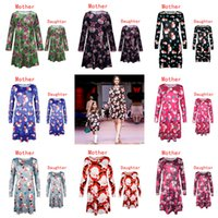 Wholesale Girl S Pajamas - Mother and Daughter Clothes Christmas Mother Daughter Dresses Matching Family Outfits Family Christmas Pajamas Women Dresses Girls Dresses