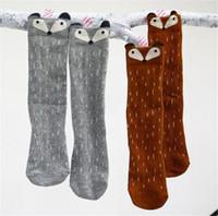 Wholesale Little Girls Winter Leggings Wholesale - gril baby children's socks leggings sock cartoon socks cute Christmas gift little fox stereo ear Cotton pop socks Autumn winter cotton