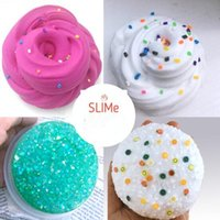 Wholesale Scented Crystals - Fluffy Foam Crystal Slime Scented Play Dough Kids Stress Relief Sludge Toy Cotton Mud Plasticine Modeling Clay for Children CCA8392 50pcs