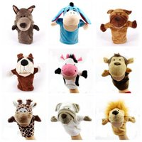 Wholesale christmas plush finger puppet resale online - Parent child interaction Christmas Hand Puppet Toys CM animal Stuffed Finger Puppet For Baby Xmas Gifts C3138
